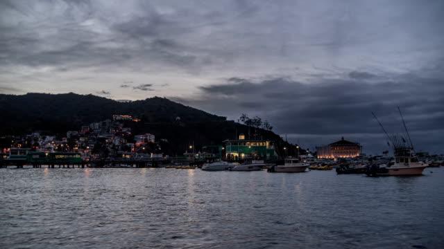 Avalon, Santa Catalina Island Twilight Time Lapse video