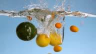 Avocado Splashing Into Water video