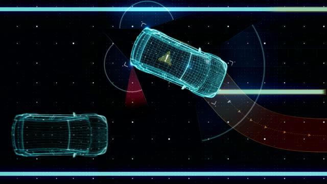 Avoiding collisions, Lane departure prevention, Autonomous vehicle, Automatic driving technology. Unmanned car, IOT connect car. X-ray image. video