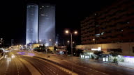 Azrieli Towers Tel Aviv night time lapse video