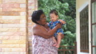 Baby and grandmother video