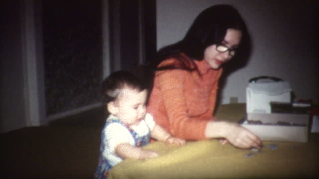 Baby and Puzzle 1960's video