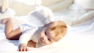 Baby angel in the child bed video
