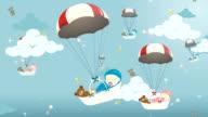 Baby baskets sky video