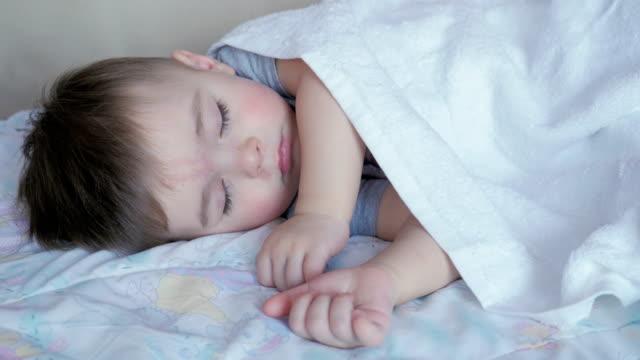 Baby Boy 2 Years Old Sleeping In Crib video