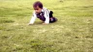 Baby boy Kneeling video