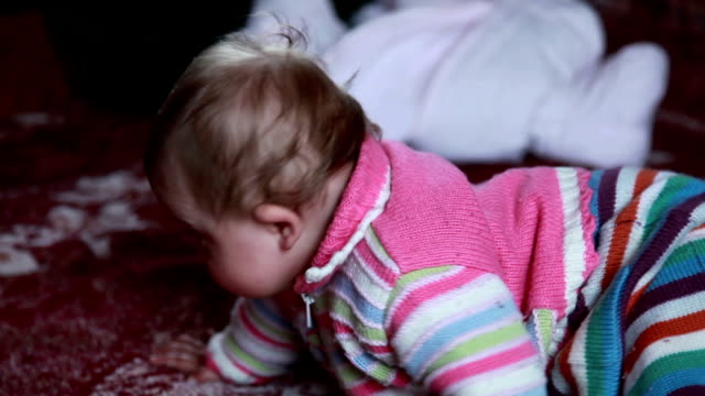Baby crawling away video