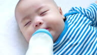 Baby drinking milk video