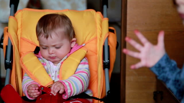 Baby drops the pacifier and puts it back in the mouth video