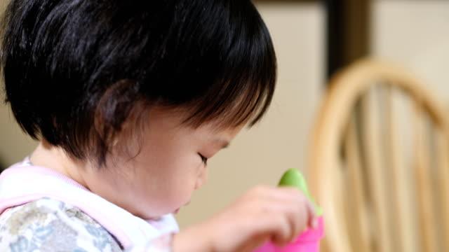 baby girl eat cookies video