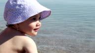 Baby Girl near Sea video
