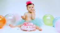 Baby Girl's 1st Birthday and Cake smash Party video