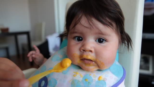 Baby lunch video