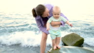 baby meets the sea video