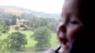 Baby on an old steam train video