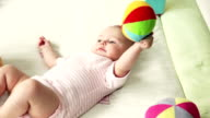 Baby playing video