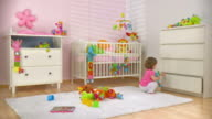 HD DOLLY: Baby Putting Toys In A Drawer video