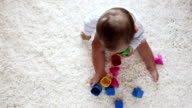 HD: Baby Sitting On Carpet and Playing video