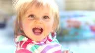 Baby smiling video