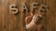 Baby spells 'safe' video