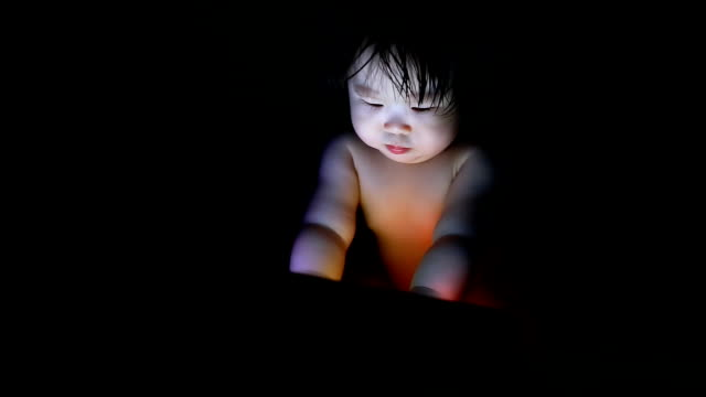 Baby using tablet video