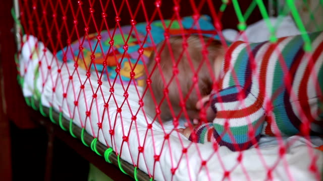 Baby waking up in the crib video