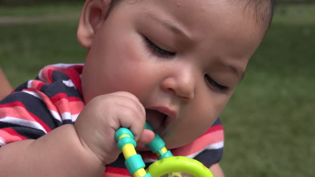 Baby With Toys, Infant Toys, Newborn Playing video