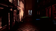 back alley with doors opening video