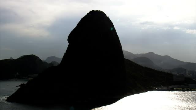 Back Lit Rio And Sugar Loaf Mountain  - Aerial View - Rio de Janeiro, Niterói, Brazil video