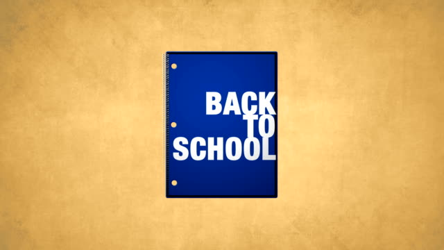 Back To School Blue Notebook Animation HD video video
