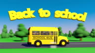 Back To School. School bus. video