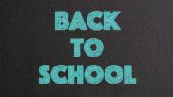 Back to School Text on Blackboard video
