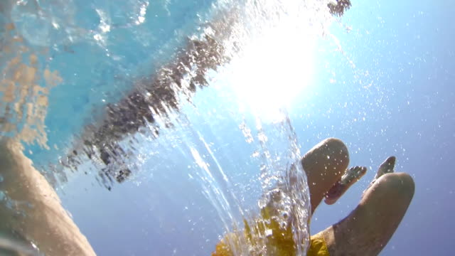 HD: Backflipping In The Pool With Camera video
