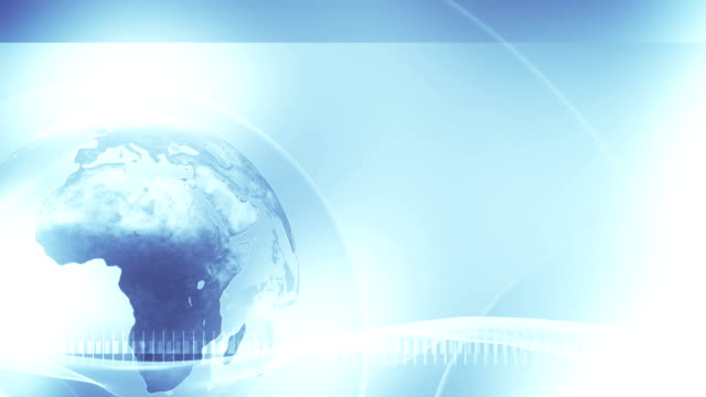 Background Globe (Light Blue, left placed) - Loop video