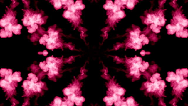Background like Rorschach inkblot test12. Fluorescent pink ink or smoke, isolated on black in slow motion. Pink in water. For alpha channel use luma matte as alpha mask video