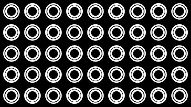 Background of white circles and dots spinning video
