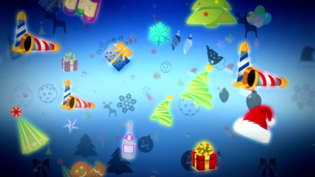 Background with Christmas Collection video
