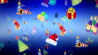Background with Christmas Collection. video