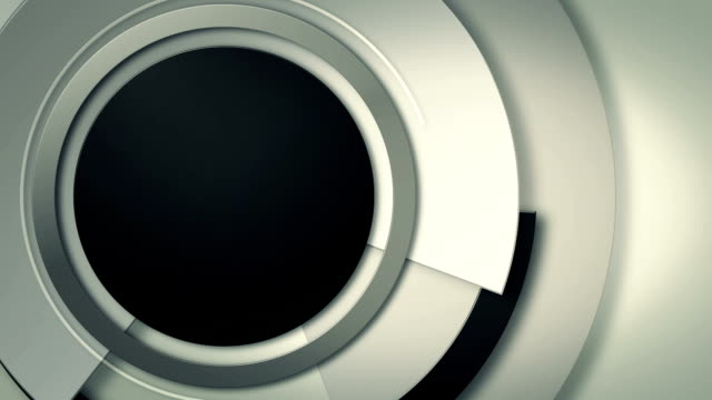 background with close-up of moving lens circles, loop video