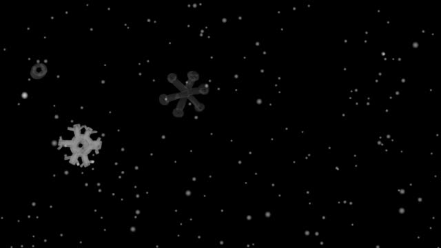 Background with snowflakes video