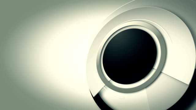 background with spinning lens circles with place for titles, loop video
