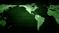 Background with world map video