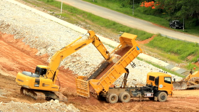 Backhoe at work video