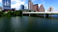 Backing Up over Town Lake in Austin Texas on a perfect Summer Afternoon video