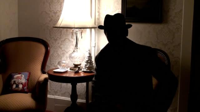 Backlit Man Talking video