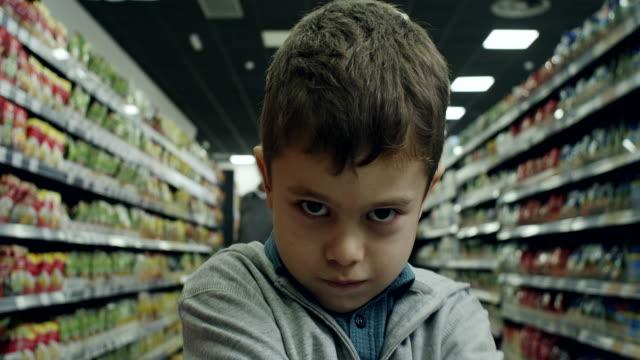 Bad boy in supermarket video