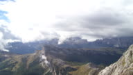 Bad Weather Arriving to Dolomites Mountains TL video
