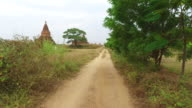 Bagan rural road video