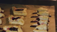 Bagels with Cherries Baked in Oven video