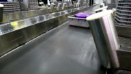 baggage conveyor belt at airport video